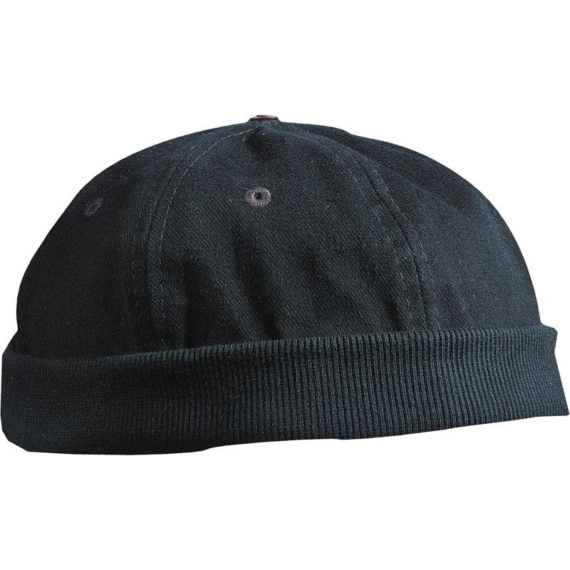 Bonnet marin publicitaire Marsouin noir - bonnet de marin personnalisable