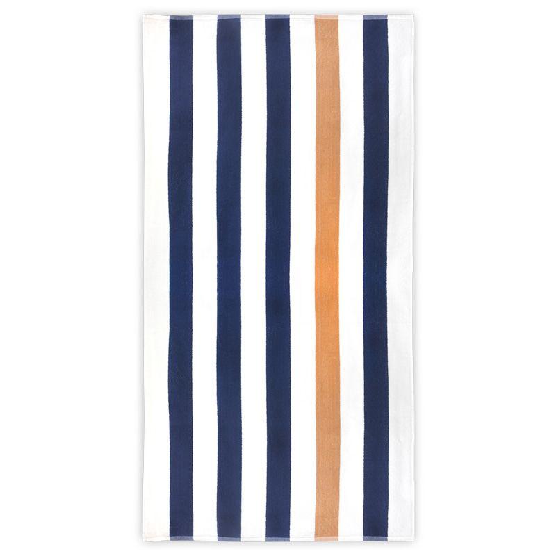 Cadeau d'entreprise - Serviette de plage personnalisée Stripe
