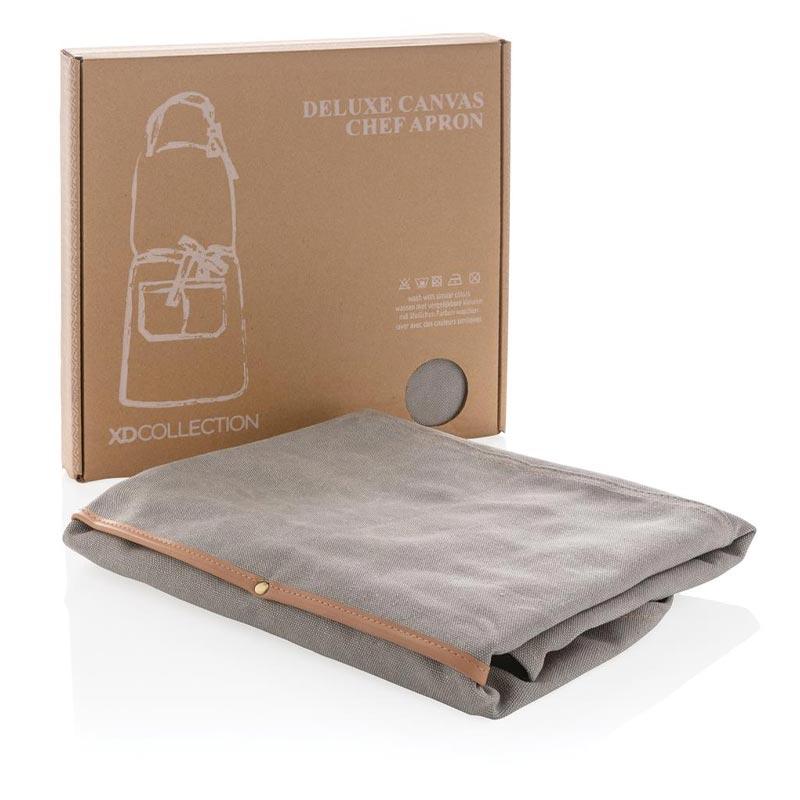 Cadeau entreprisre - Tablier en toile Deluxe gris