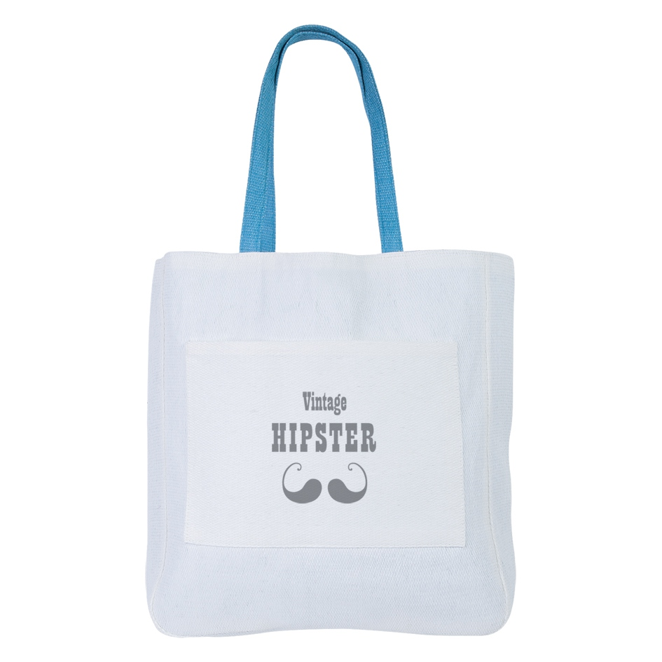 Sac shopping promotionnel écologique Hipster - objet promotionnel écologique