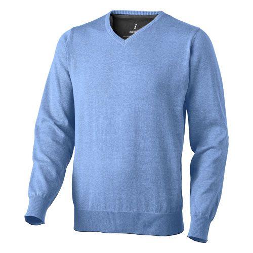 Pullover bleu marine Col V