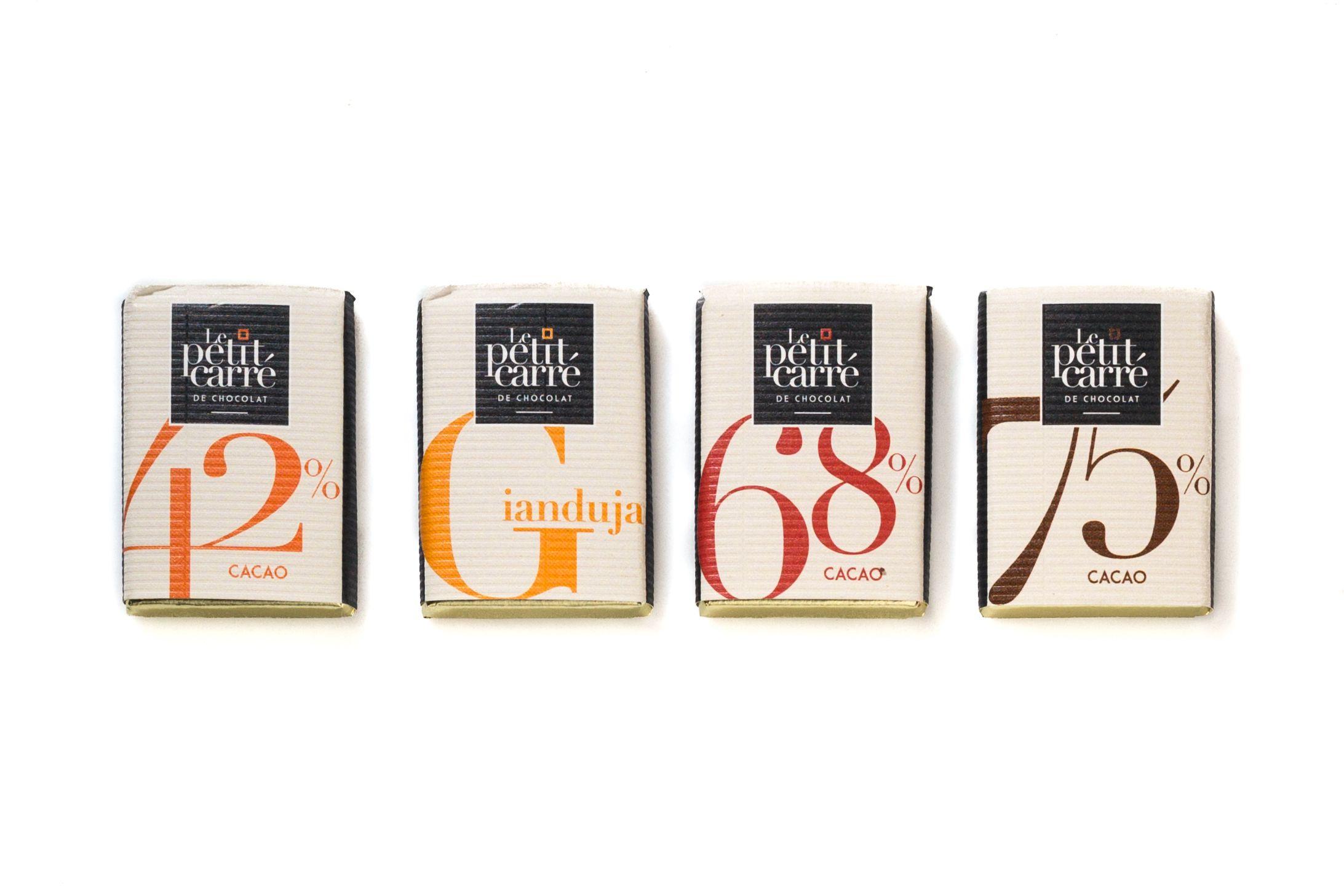 Chocolat publicitaire à offrir dans une boîte écrin 6 carrés