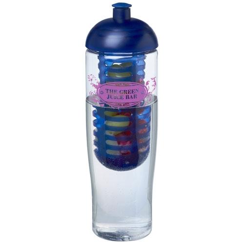 Bouteille de sport publicitaire et infuseur H2O Tempo® 700 ml avec couvercle dôme - Gourde de sport publicitaire
