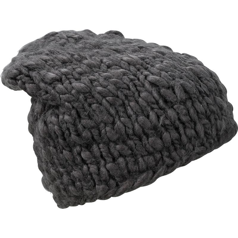 Bonnet publicitaire à mailles larges, couleur charbon noir