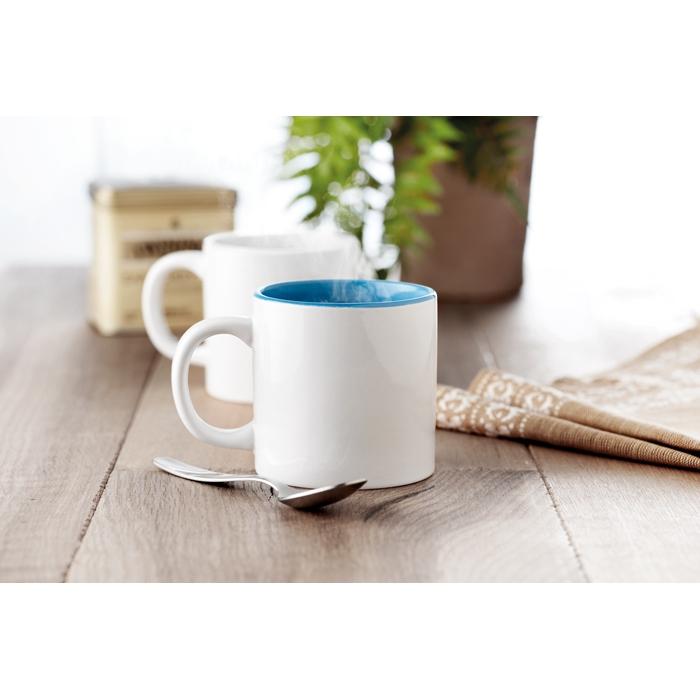 Mug intérieur bleu sublime personnalisé