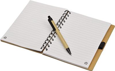 carnet publicitaire écologique - bloc-notes publicitaire écologique et stylo Eco