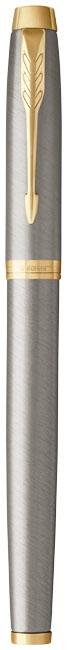 stylo publicitaire en métal -Roller publicitaire IM Color de Parker blanc/argent