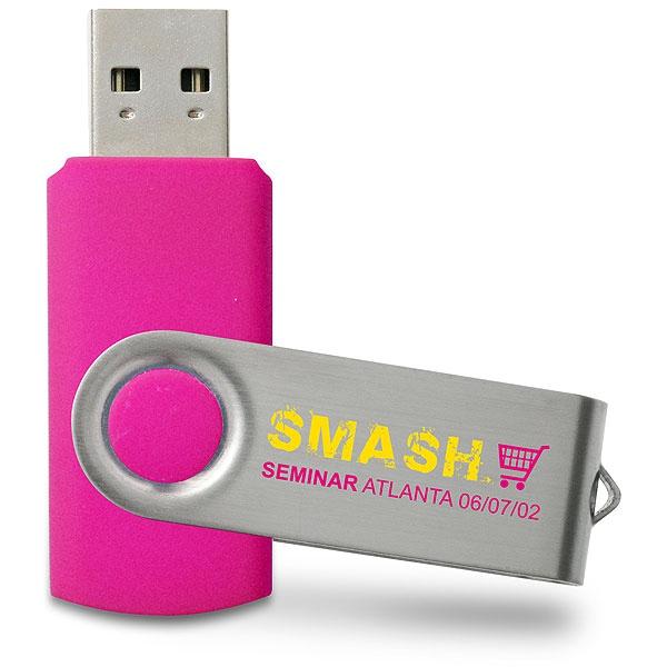 Clé USB publicitaire Swivel - Clé USB personnalisable - orange PMS 151