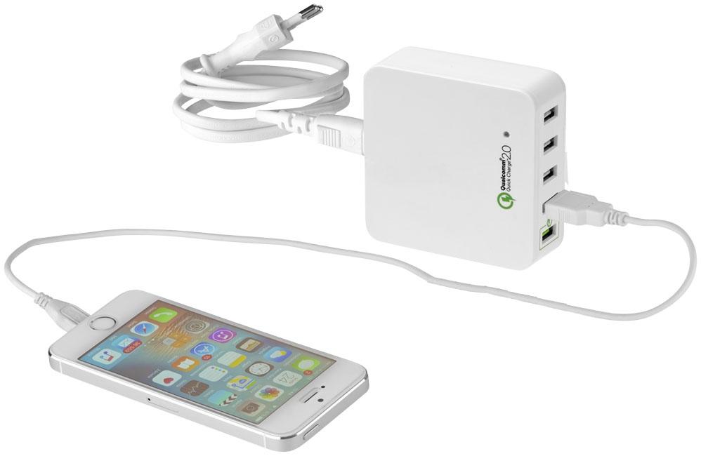 Hub publicitaire USB Quick Charge 2.0 - cadeau d'entreprise high-tech