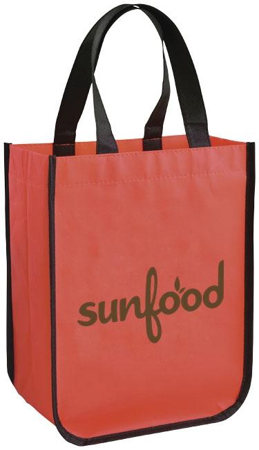 Petit sac shopping personnalisé laminé Pequeno rouge