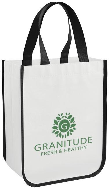 Petit sac shopping personnalisé laminé Pequeno - sac shopping publicitaire