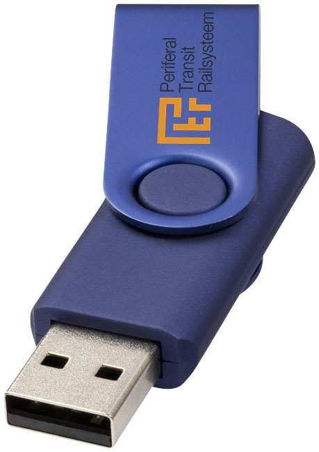 Clé USB publicitaire Métallique rotative - rouge