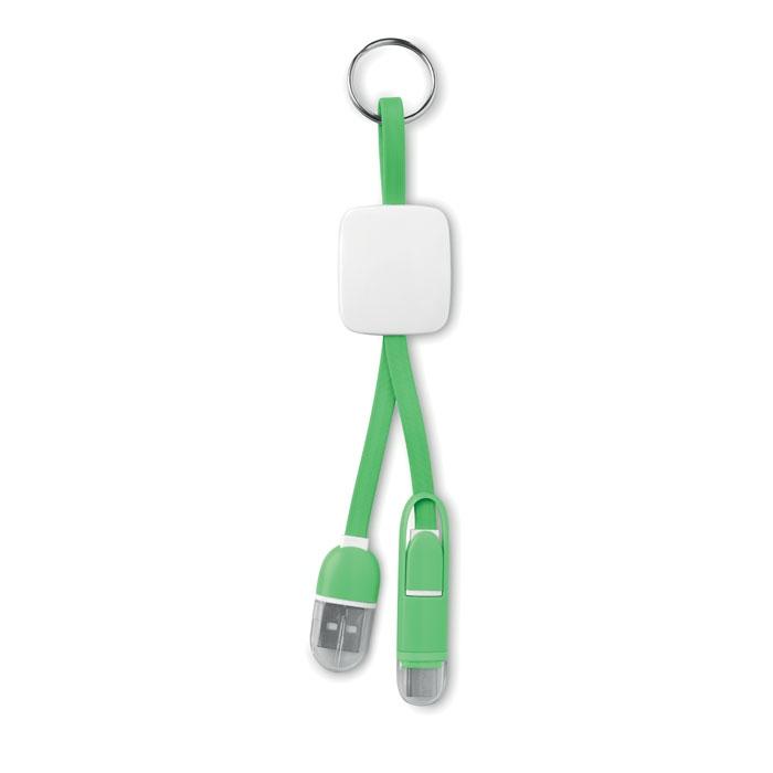 objet publicitaire - Porte-clés publicitaire USB type C Key Ring C - vert citron