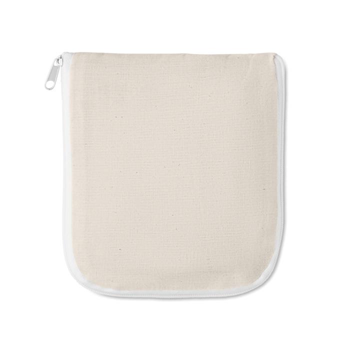 Sac shopping publicitaire pliable Foldy - sac shopping en coton personnalisé