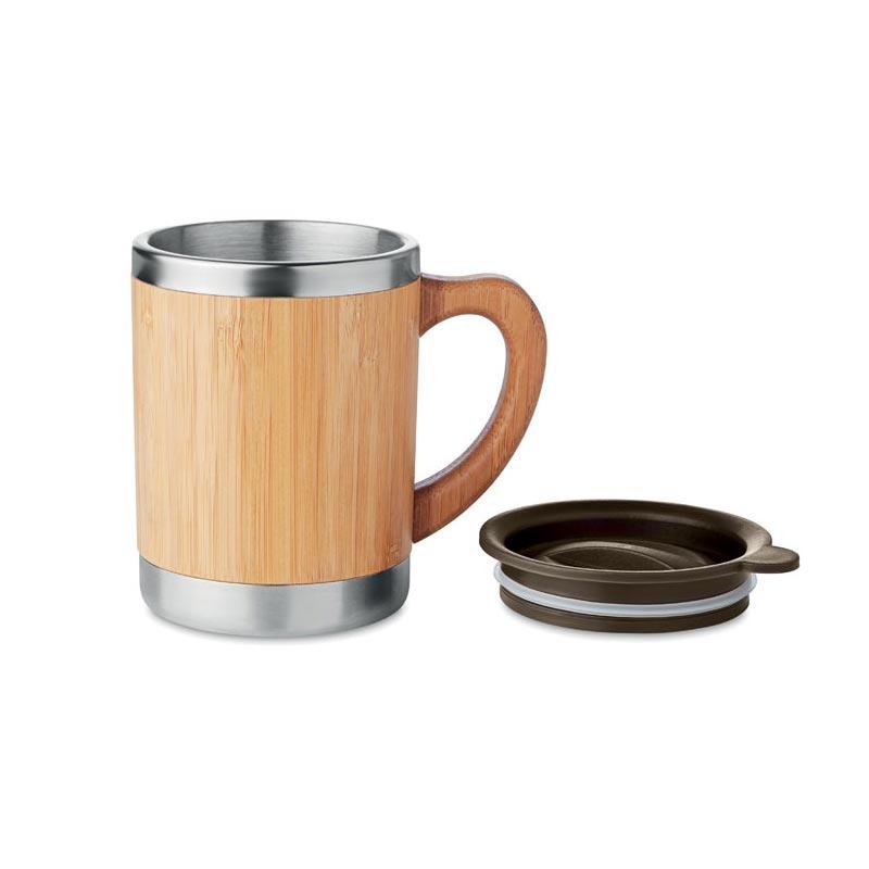 mug isotherme inox bambou cadeau publicitaire