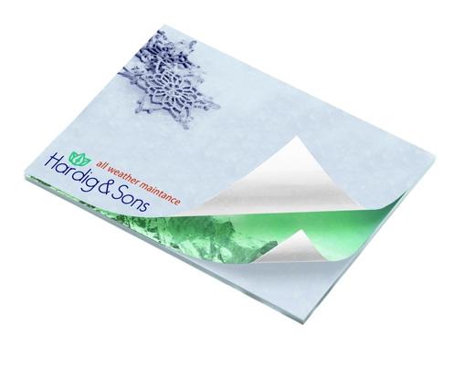 Bloc-notes mémo personnalisable BIC®  25 feuilles adhésives alternées