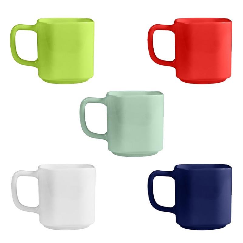 mug publicitaire empilable 6 coloris