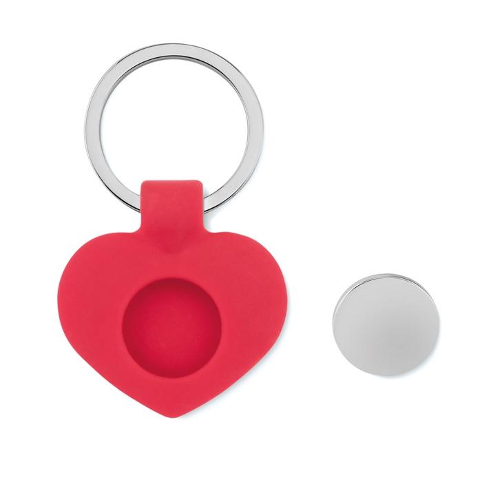 Goodies - Porte clés personnalisé cœur avec jeton Cuore
