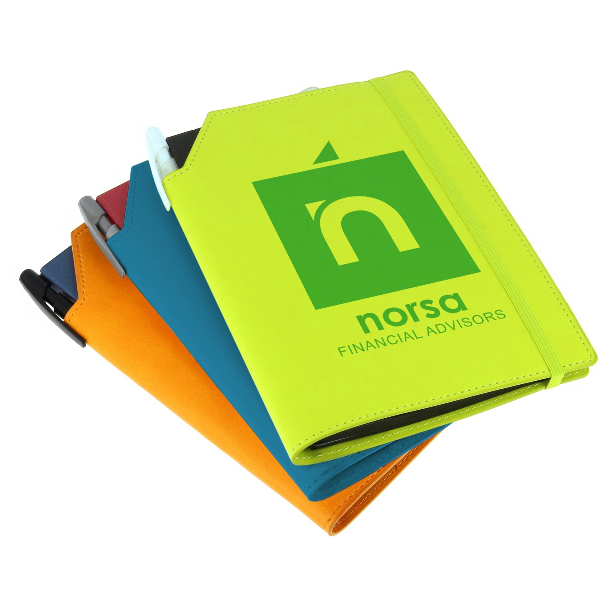 Carnet de notes personnalisable Bic® Notebooks Dual A5 blanc - objet publicitaire