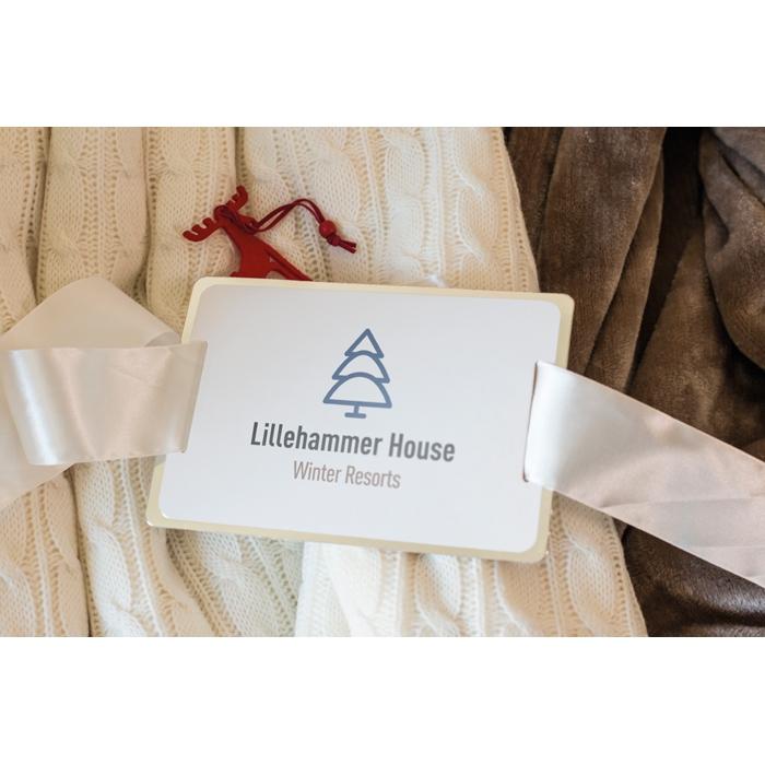 Cadeau publicitaire de fin d'année - Couverture personnalisée acrylique & sherpa Chamonix