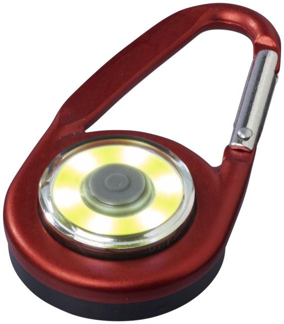 Mousqueton avec lampe publicitaire COB Eye - cadeau personnalisé