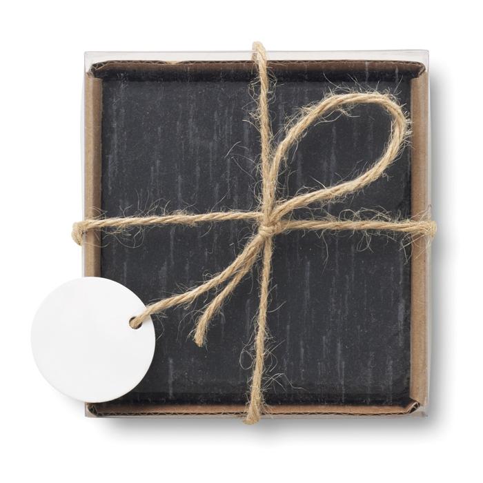 Cadeau d'entreprise cuisine - Sous-verres en ardoise Slate4