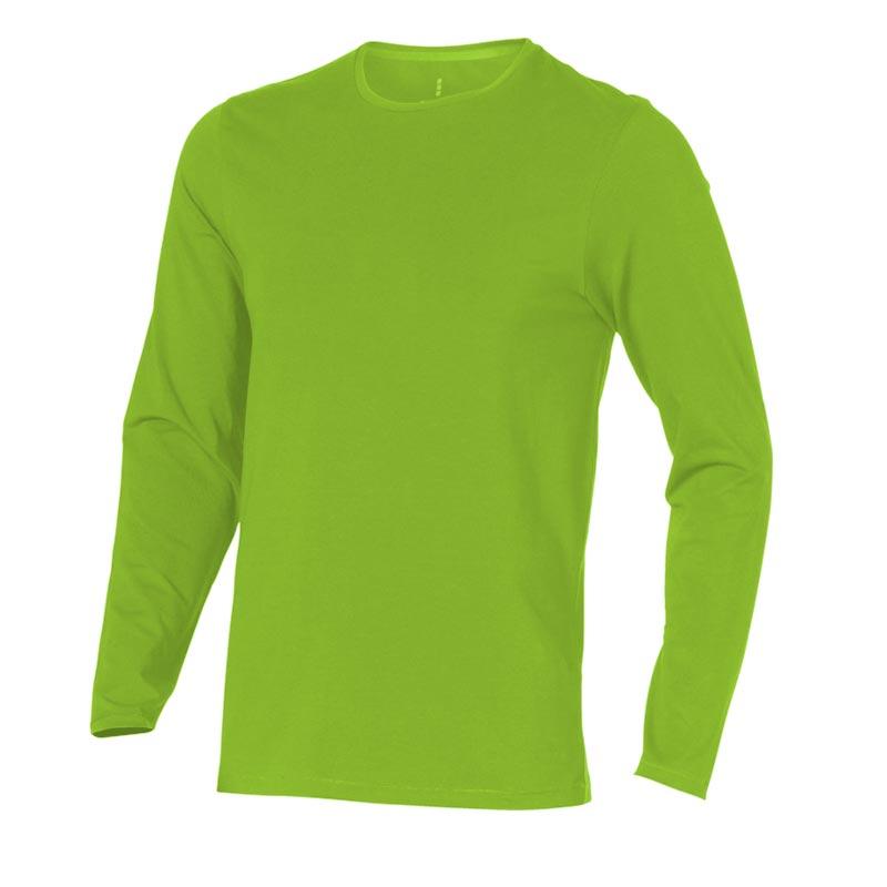 T-shirt bio publicitaire manches longues pour homme Ponoka  vert