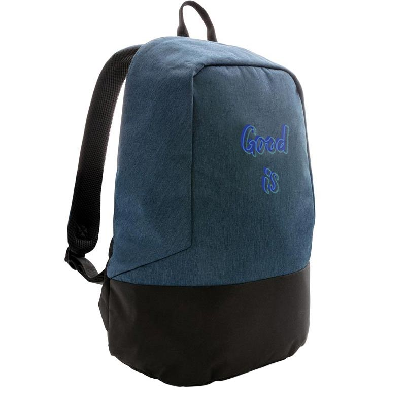 sac à dos publicitaire antivol anti RFID - coloris bleu