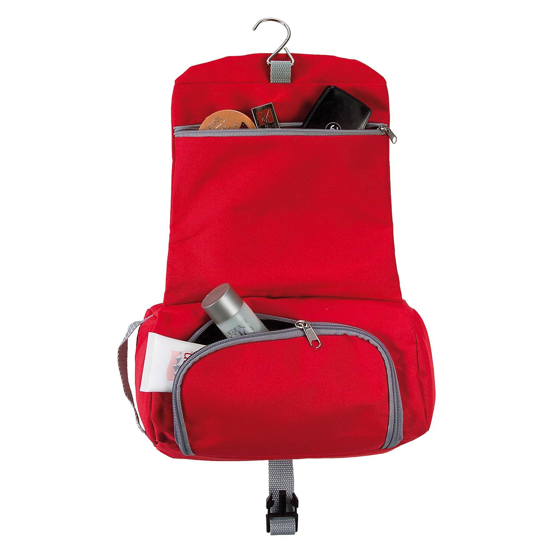Cadeau d'entreprise - Trousse de toilette publicitaire Croisière - rouge