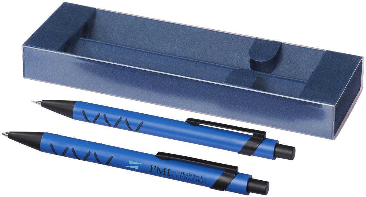 Set stylo bille publicitaire et crayon mine Jupiter bleu royal