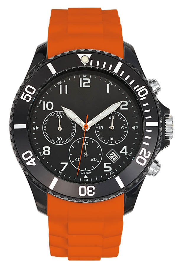 Montre publicitaire sport Chrono Freeze orange