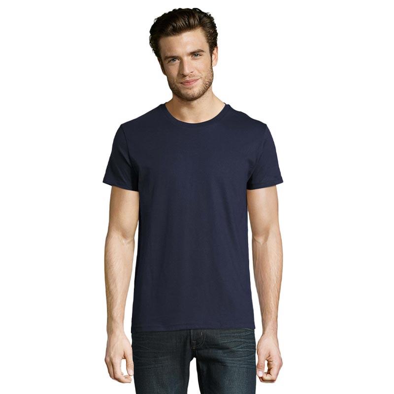 tee-shirt publicitaire homme en coton bio - coloris bleu