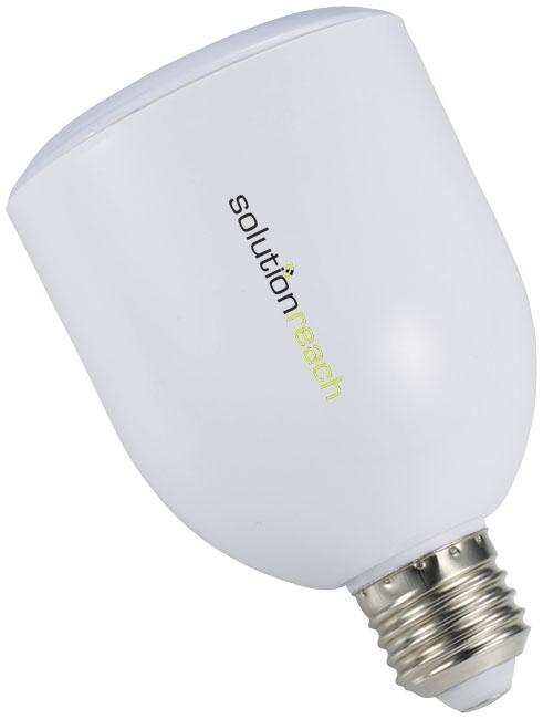 Ampoule LED et haut-parleur publicitaire Bluetooth® Zeus - objet publicitaire
