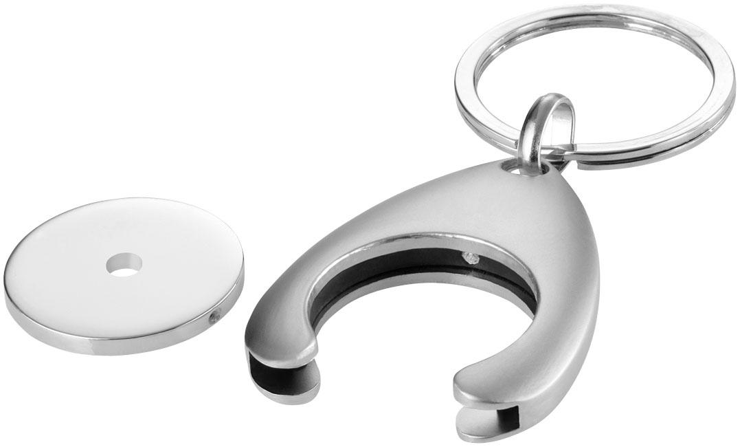 Porte-clés publicitaire jeton Trolley - objet publicitaire