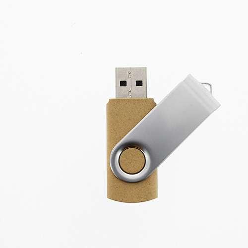 Clé USB publicitaire écologique VG-Mettle - cadeau publicitaire écologique