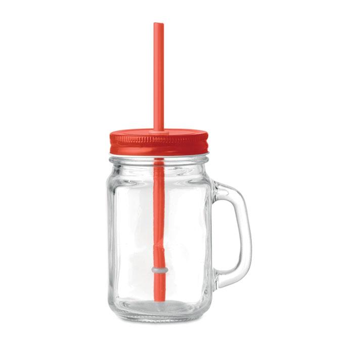 gobelet personnalisé - verre transparent publicitaire avec paille Twist