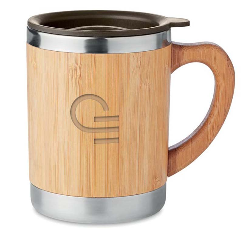 mug isotherme inox bambou