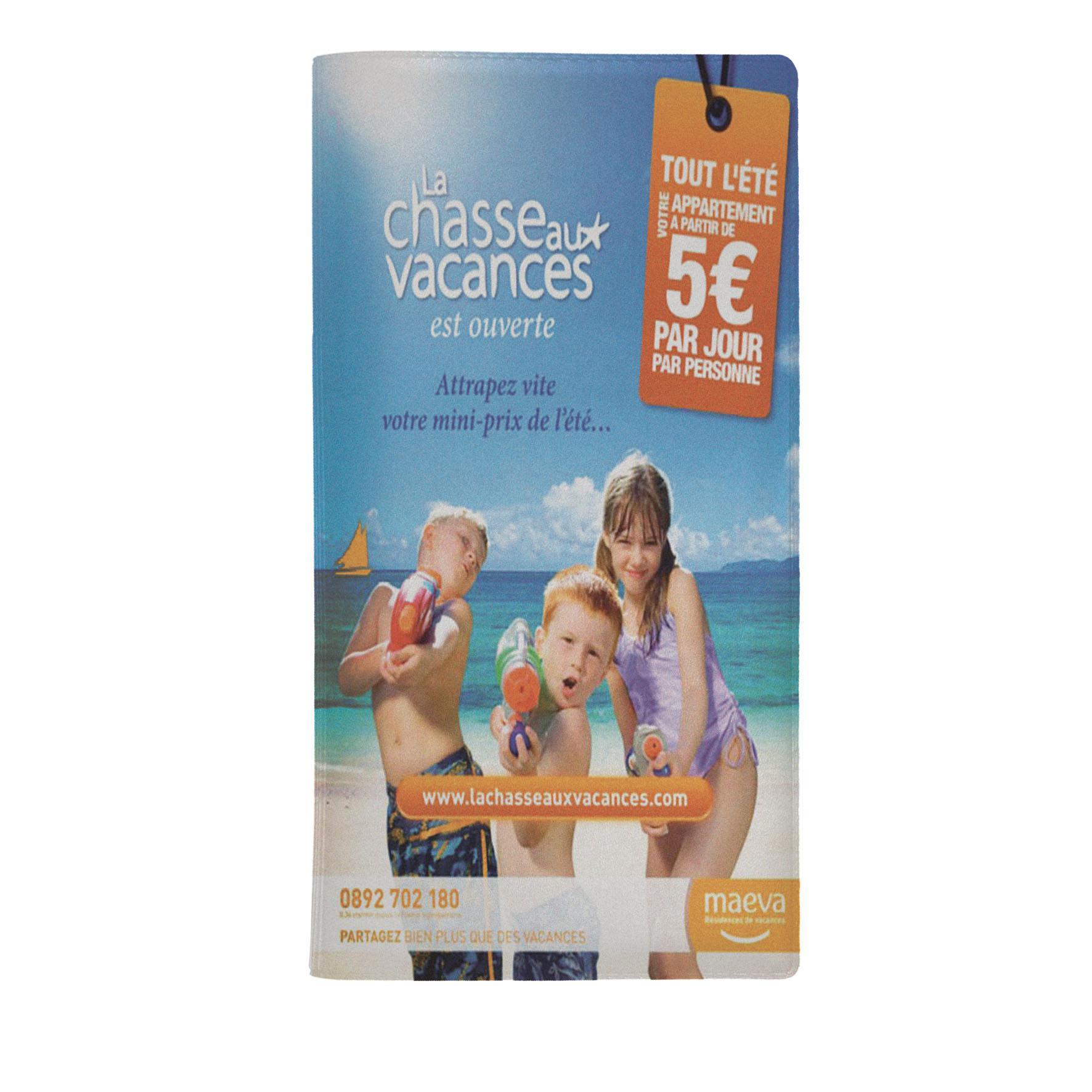 Cadeau publicitaire - Pochette de voyage publicitaire Verticale - bleu