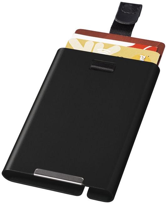 Objet publicitaire sécurité - Porte-cartes publicitaire RFID Pilot - noir
