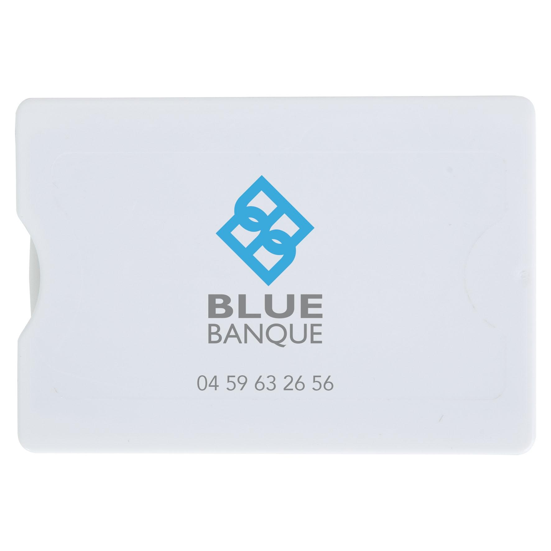 Objet promotionnel - Etui publicitaire rigide 1 carte de crédit anti-RFID