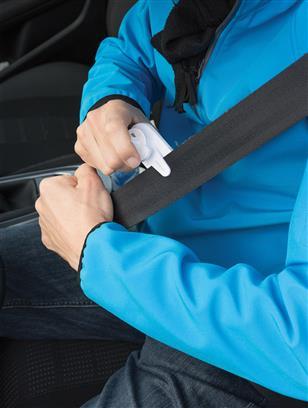 Support téléphone publicitaire pour voiture avec coupe-ceinture