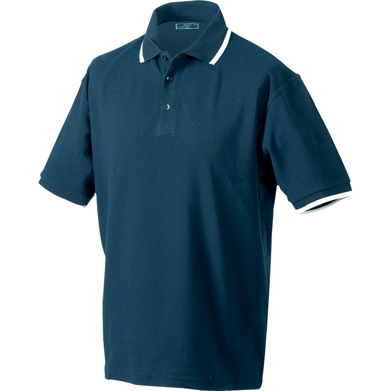 Polo publicitaire homme Chelem royal/blanc - polo personnalisable