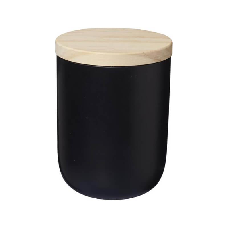 Bougie personnalisable avec couvercle en bois Lani