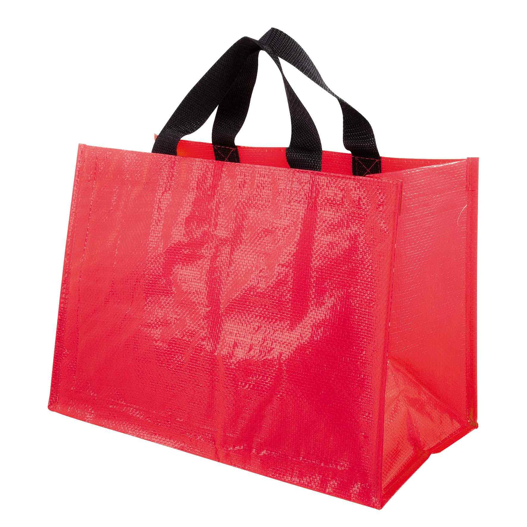 Sac shopping publicitaire PP tissé Horizon - Cadeau publicitaire - rouge