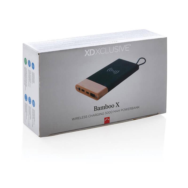 Batterie de secours avec induction 5W Bamboo X