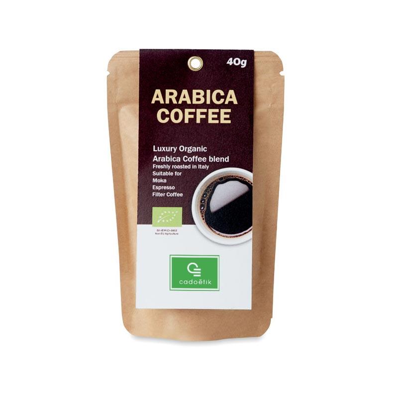 Café moulu biologique 40g Arabica personnalisé