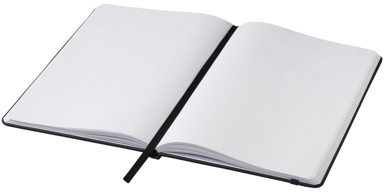 Carnet de notes personnalisé A5 Spectrum avec pages blanches - carnet publicitaire