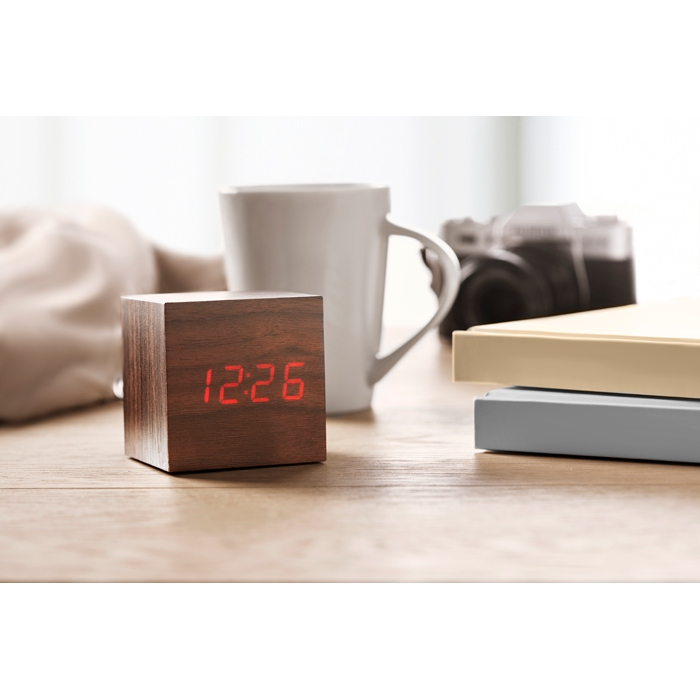 Réveil publicitaire LED Buenos Aires Mini - Horloge personnalisable
