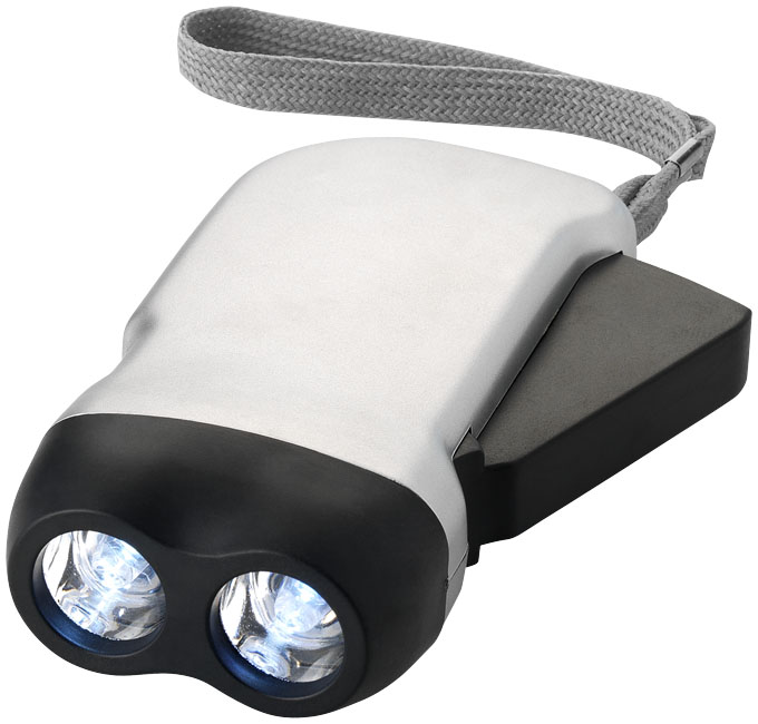 Llampe dynamo publicitaire Virgo blanc en promotion