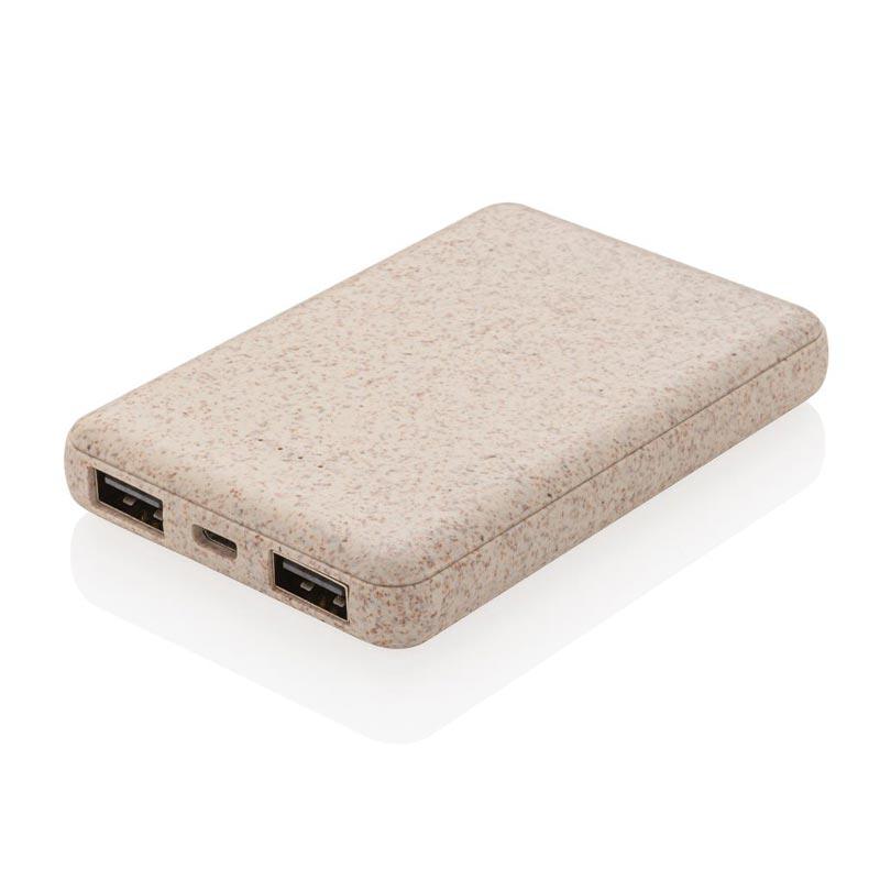 Batterie de secours 5000 mAh en fibres de paille Eco